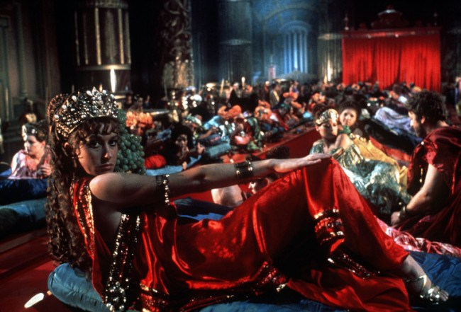 Scene from film CALIGULA (1979) starring HELEN MIRREN.   FOR USE